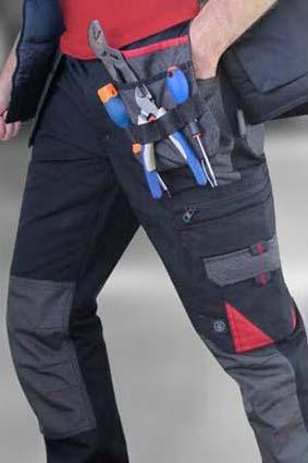 Pantalon de travail homme LMA Minerai multi-poches à genouillères. Un pantalon pas cher, robuste et confortable !