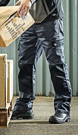 Pantalon de travail homme Dickies Everyday - Multipoches, emplacement genouillères, Bicolore noir et gris